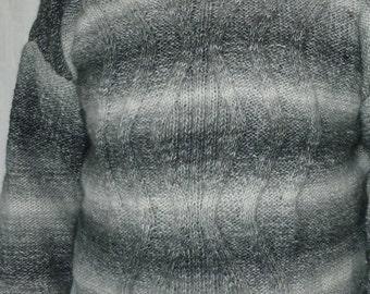 Men's pullover gr: 54/56 hand knitted + beanie