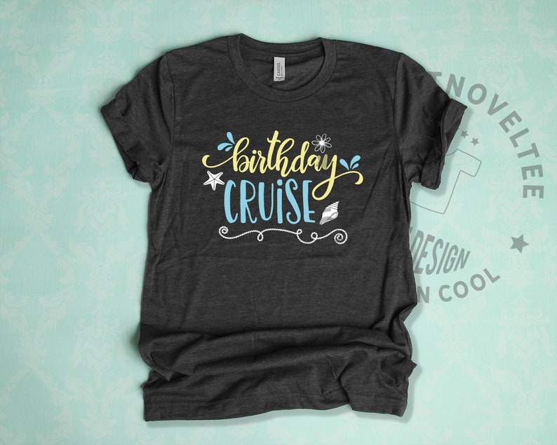 3aa567c20 Birthday Cruise Party T-Shirt Cute Womens Holiday Tee Family | Etsy