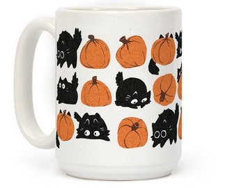 Pumpkin Cats Coffee Mug