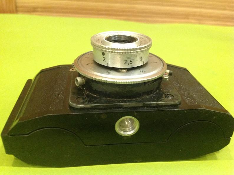 Lens T-43Retro CameraOriginal Leather CaseTested Working SMENA-2 USSR Soviet Russian Vintage 35 mm Film Compact Camera Lens T-22