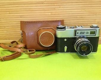 USSR Camera/Soviet Camera/Russian Camera/35 mm Film Camera/Vintage Camera/Fed 5V Camera/Rangefinder Camera/Retro Camera/Leica Copy Camera