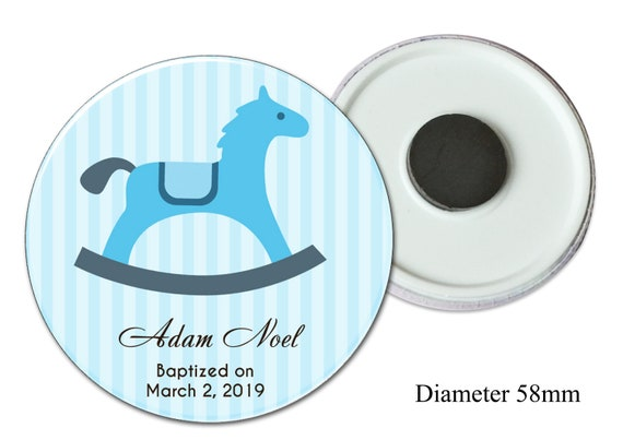 magnets Favors with rocking horse
