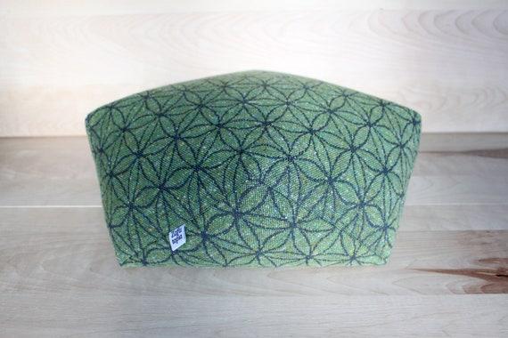 Zafu Fleur de vie Vert