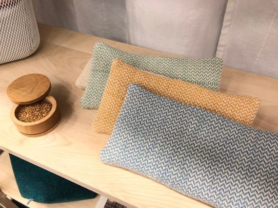 Eye handwoven linen, cotton and organic hemp, flax and lavender.
