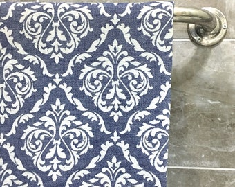 100% Cotton Turkish Peshtemal,Navy Handwowen Towel, Authentic Patterned, Confidential Textile,Beach Wedding Gift,Bath, Hammam,Spa,Azo Free