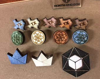 Laser Cut Pins (3 pack)