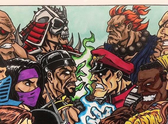 Mortal Kombat Vs Street Fighter 11x17 Fine Art Print Etsy