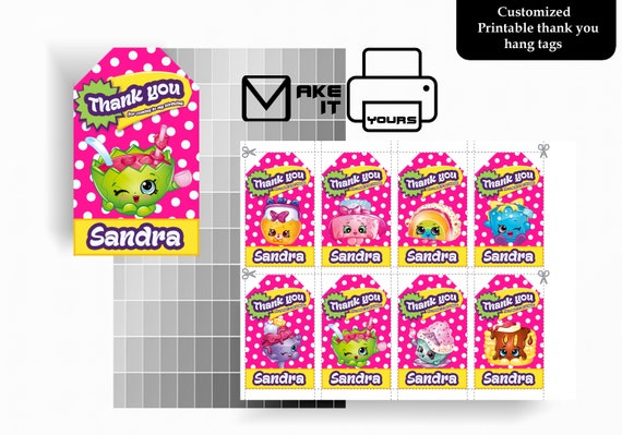 graphic about Shopkins Printable identify Shopkins Thank By yourself Cling Tag, Shopkins Birthday, Shopkins Celebration, Shopkins Printable, Shopkins Electronic, , Shopkins Electronic Dangle Tag, Procuring
