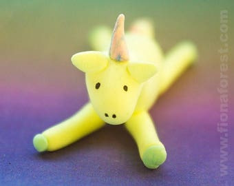 Unicorn Pearl handmade Clay Rainbow