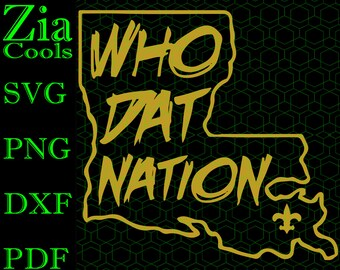648dc6f8301 Who Dat Nation New Orleans Saints, Who Dat Fans Logo Svg, Png, Dxf, Pdf  Files