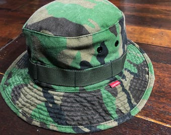 3508b955ed2 SUPREME Camo Bucket Hat size M L