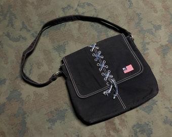 14bb5e0db0 Vintage 90s Polo ralph lauren Messenger Bag ADJ
