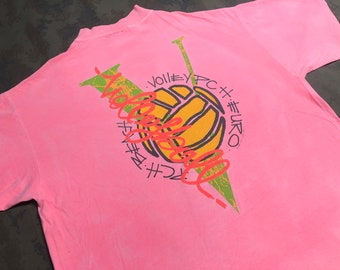 733adf29a5de Vintage 1991 Volleyball T-Shirt size XL 2-side