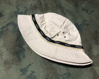27464db41a8 Vintage 90s Polo ralph lauren Bucket Hat