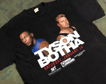 3e1074d5 Vintage 1999 Mike Tyson vs Frans BothaT-Shirt size XL 2-side