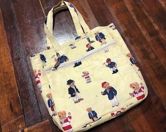 Vintage 90s Polo Bear ralph lauren Tote Bag e6f9f24498