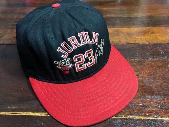 Vintage 90s Chicago Bulls x Michael Jordan Cap ADJ  fd1fa608dad
