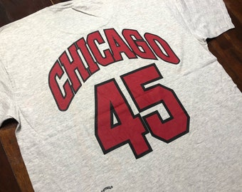 Vintage 90s Chicago Bulls T-Shirt size XL 2-side