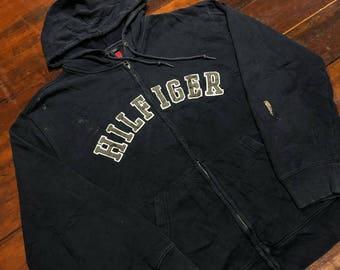 Vintage 90s Tommy Hilfiger Hood Zip size M
