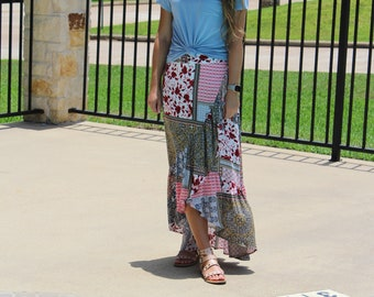 Muti-Colored Floral Skirt