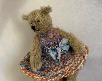 England OOAK Darling Mohair Artist Bears by Frank Webster Vintage Heirloom Mohair Vintage-Style Teddy Bears