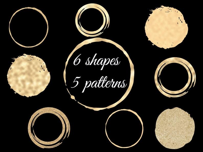 Round gold dot Roud gold frame Elegant gold circles GOLD circle design elements Gold and glitter circles for logo