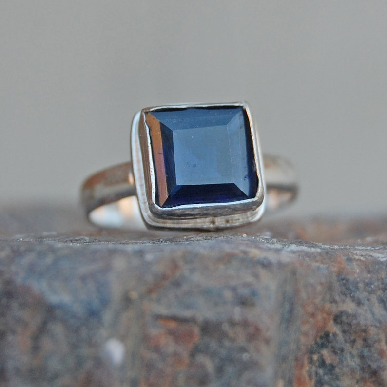 Natural Gemstone Round cabochon Iolite Rings Most Jewellery Gift for Mothers Day top Ring 925 Sterling Silver Blue Iolite Natural Gemstone Ring