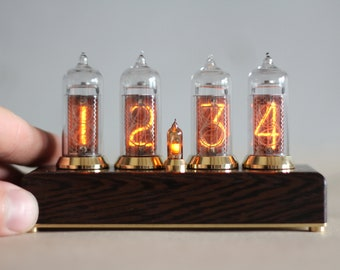 Bestseller Nixie Tube Clock In 14 Vintage Lamp Wooden Fallout Cosplay Watch Steampunk Decor Desk Accessories