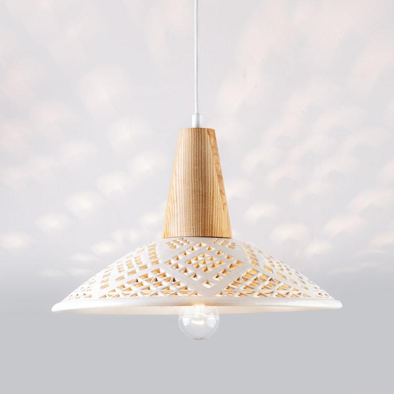 Ceramic pendant  Kitchen island chandelier Beach house dining image 0