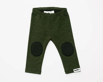 GripStart Leggings™ - Forest Green/Black