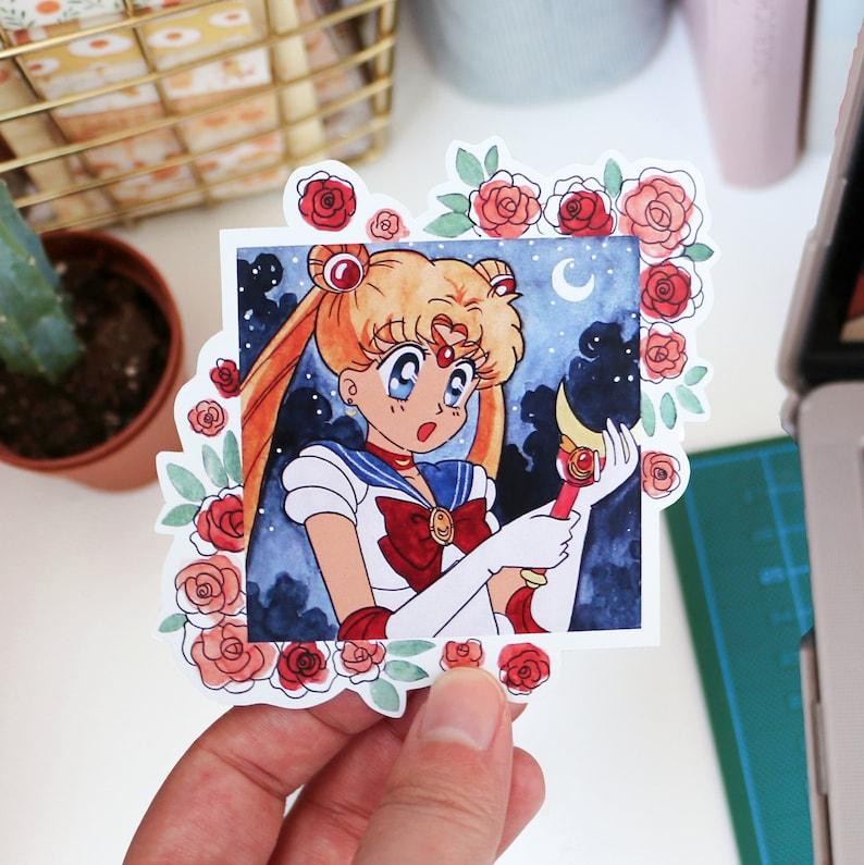 Sailor moon-roses /& starry night sticker
