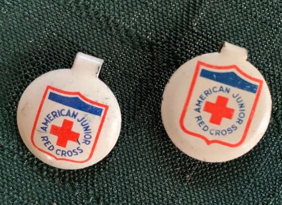 1940's American Junior Red Cross lapel clips