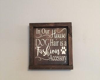 Dog hair is a fashion accessory