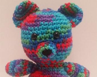 Rainbow Teddy Bear, Amigurumi Crochet Bear