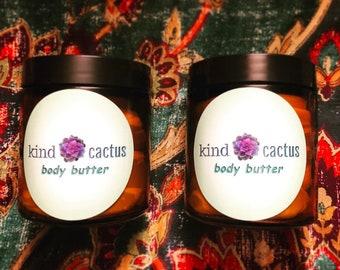 Kind Cactus Organic & Creamy Body Butter-Vegan/NonGMO/Natural Whipped Lotion/Nontoxic