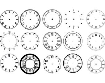 clock face stencil Choose size and thickness SMALL