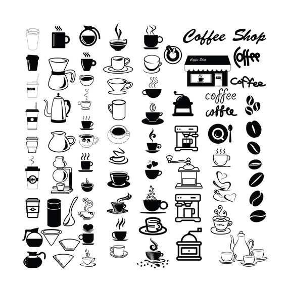 Coffee Cup Svg Bundle Coffee Cup Clipart Bundle Coffee Cup Etsy