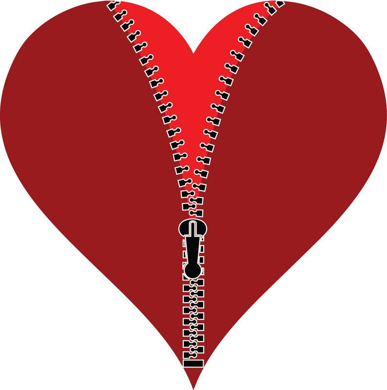 Zipper Zipper SVG Zipper SVG Files Heart SVG Cricut | Etsy