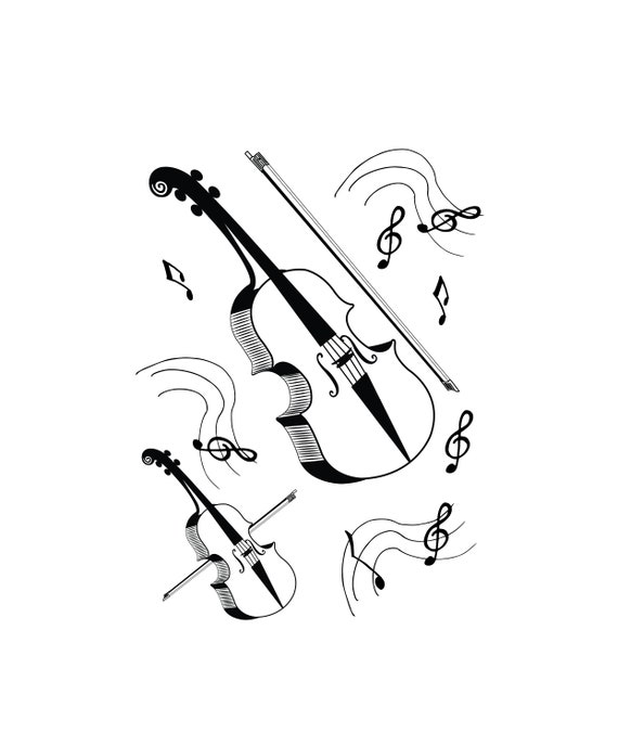Violin, Violin SVG, SVG, Fiddle SVG, Cricut, Silhouette Cameo, ScanNCut,  Svg files, Violin clipart, Fiddle clipart, Music Notes Svg, Png