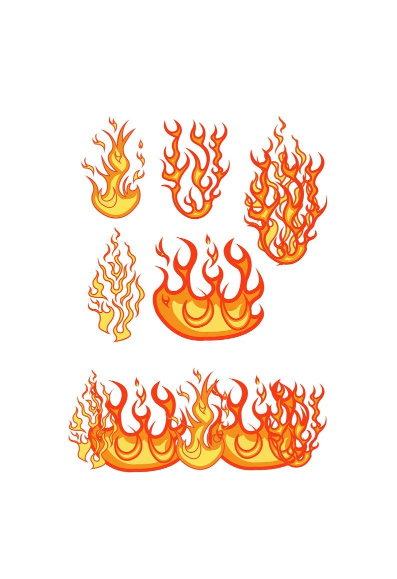 Fire SVG Files, Fire Clipart, Fire Dxf Files, Flames Cricut Files, Flames  Silhouette, Cut file, Fire Png, Fire Cut Files, Dxf, Png, Eps, Svg