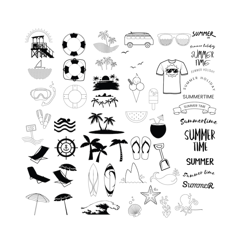 BEACH SVG BUNDLE Files, Beach Clipart Bundle, Summer Svg bundle, Beach Svg  Files for Cricut