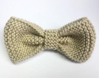 Bow tie knit light Greige