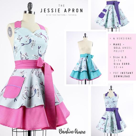 Aprons for Women Pattern Women\'s Apron Pattern Apron | Etsy