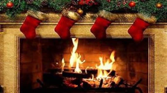 Christmas Fire Place.Christmas Fireplace Counted Cross Stitch Pattern