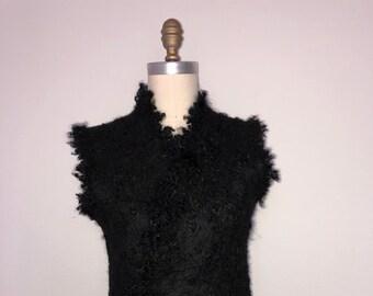 Wool Felted ECO-Fur Vest for Women