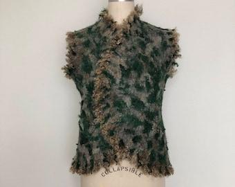 Wool Nuno Felted Vest for Women