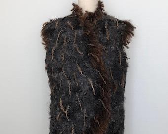 Eco Fur Wool Felted Vest for Women