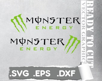 Monster Energy Svg - Cut Ready Vector File - Svg, Eps, Dxf