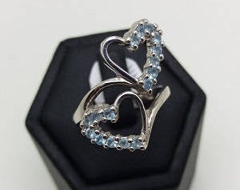Ring 925 sterling silver with zircon stones
