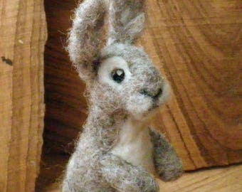 Rabbit,Needle Felted Rabbit,Needle,Felted Animal,Soft Sculpture,Gift,Wool,Needle Felted,OOAK,Natural Fiber,Collectible